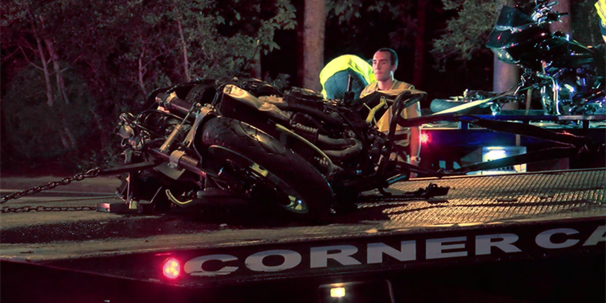 Three taken to hospital after wreck involving motorcycles