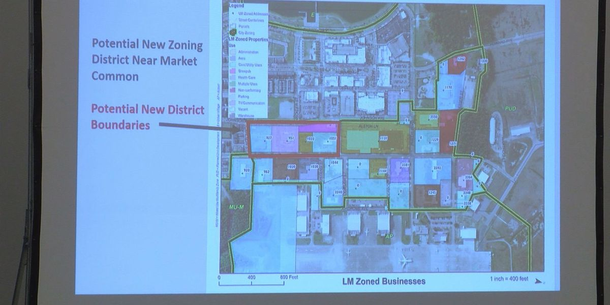 Rezoning request to allow more businesses in The Market Common area in jeopardy