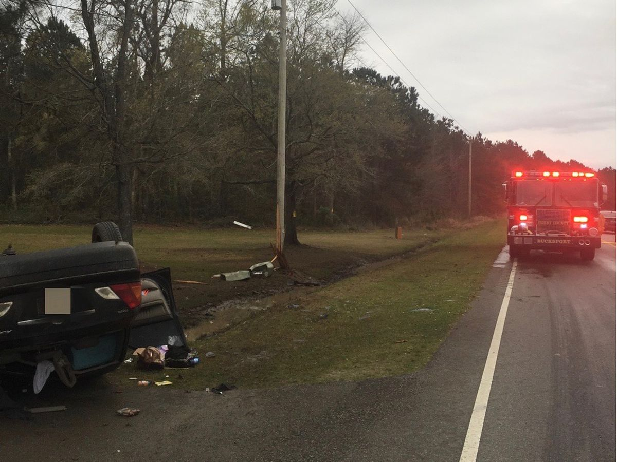 Crash on Highway 701 in Conway area damages utility pole; drivers asked to avoid area