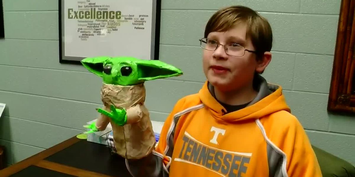 Student Spotlight: Eighth-grader makes art out of recyclables