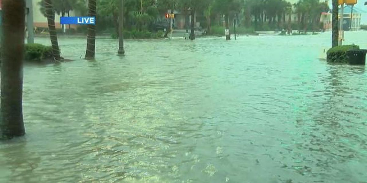 Storm surge cuts off emergency personnel from Cherry Grove