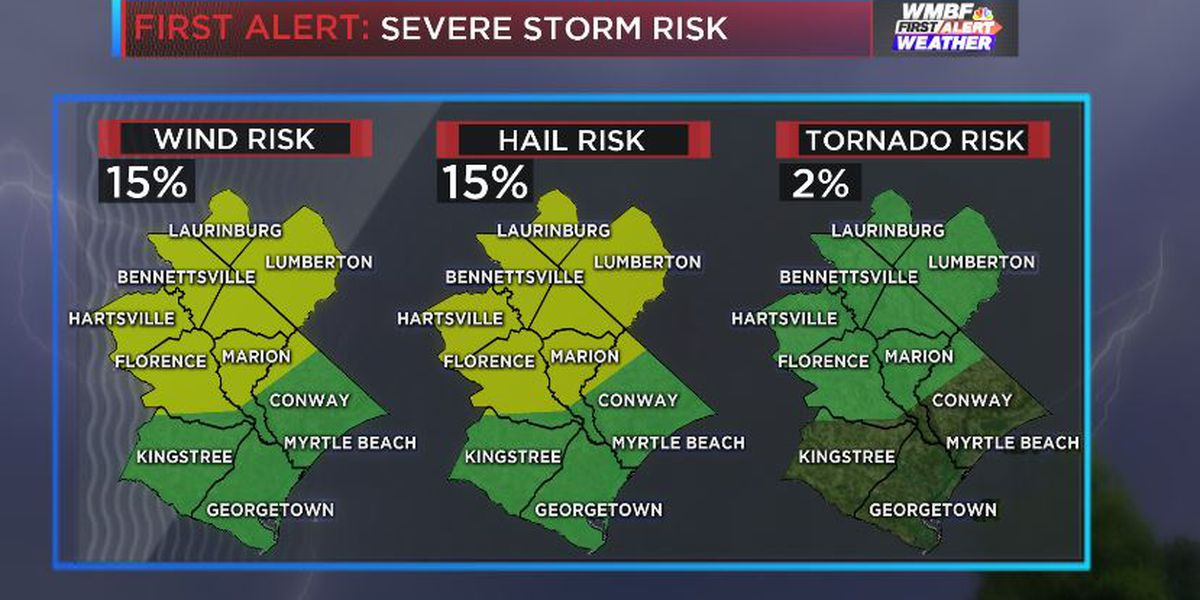 FIRST ALERT: A few severe storms possible later today