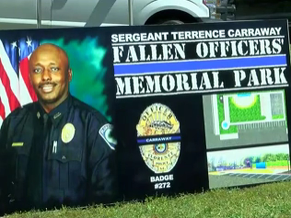 Community gathers at future memorial park named for slain Florence police sergeant