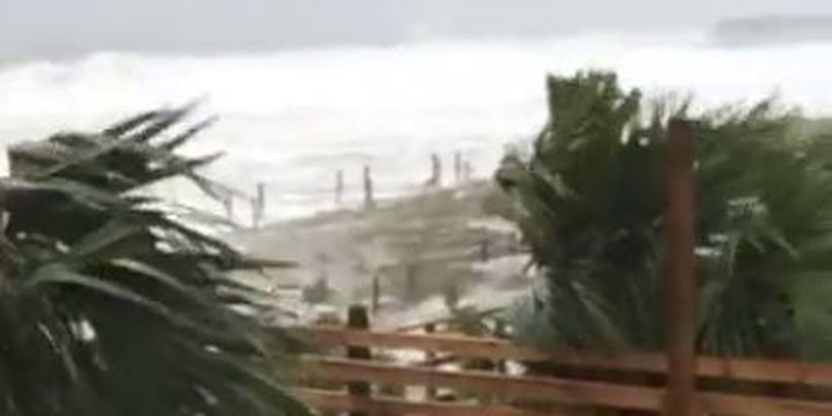 End of Surfside Beach Pier washed away by Hurricane Matthew
