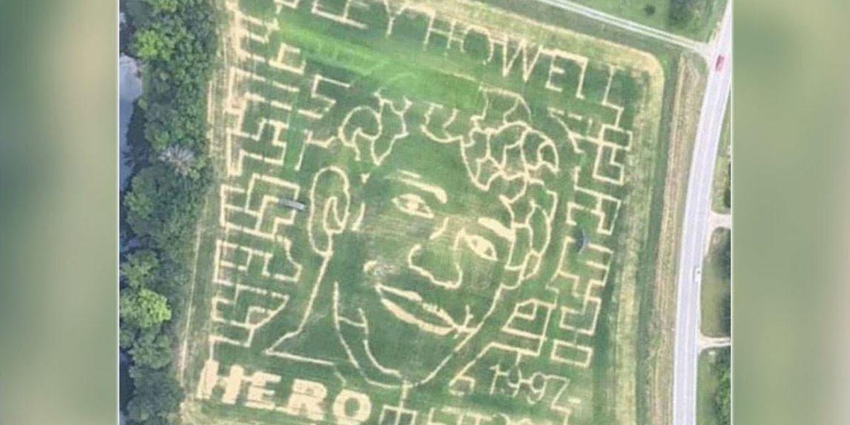 N.C. corn maze honors UNC Charlotte hero Riley Howell