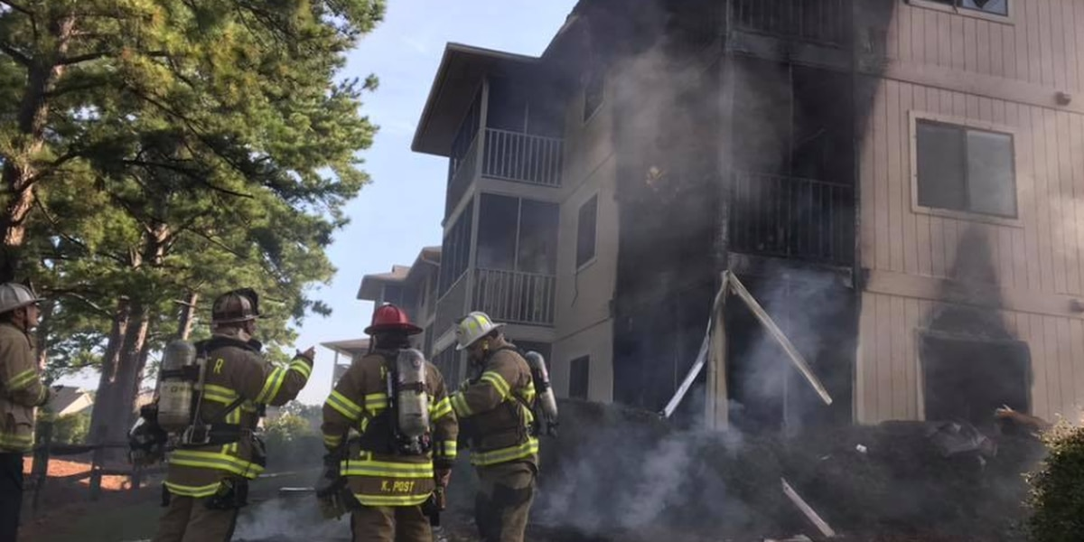 One hurt in three-alarm fire at Little River apartment complex
