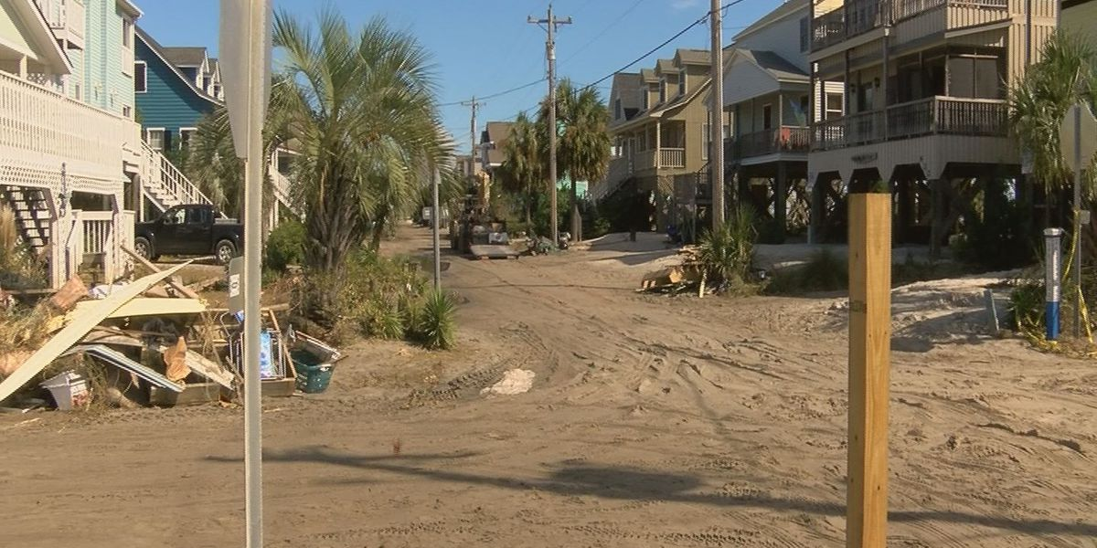 Pawleys Island resident digging out after storm surge pushes dunes into streets