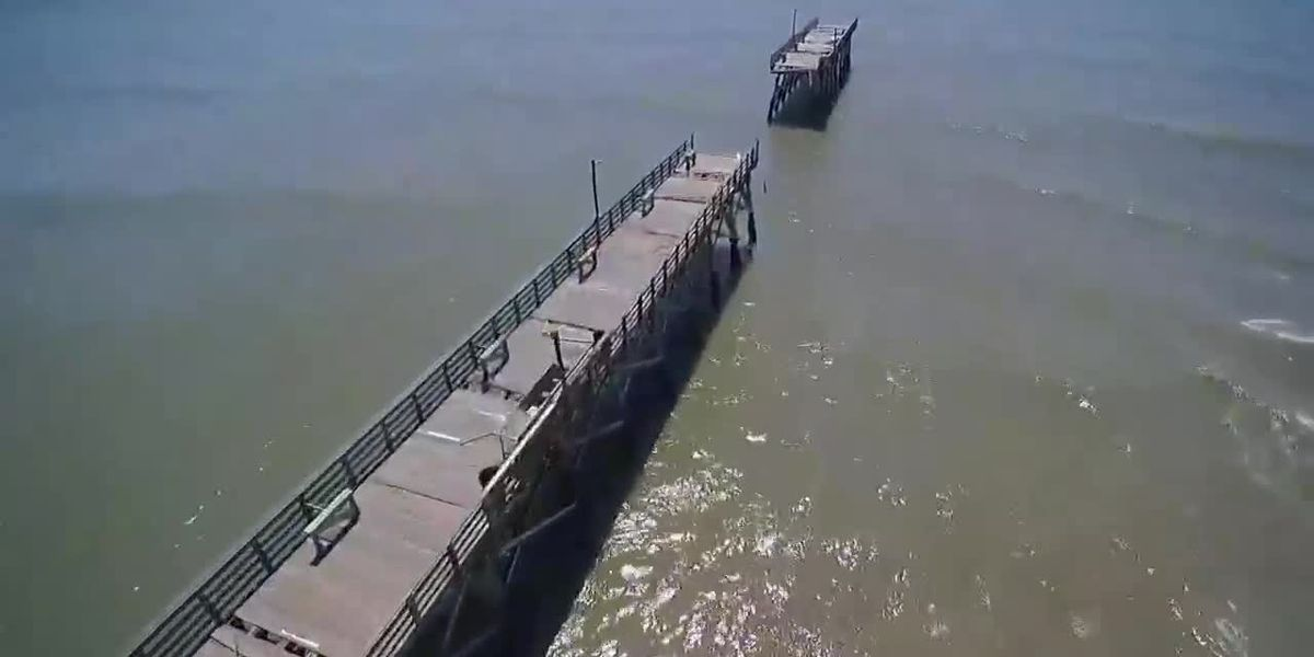 Hurricane Isaias takes out portion of Sea Cabin Pier in Cherry Grove
