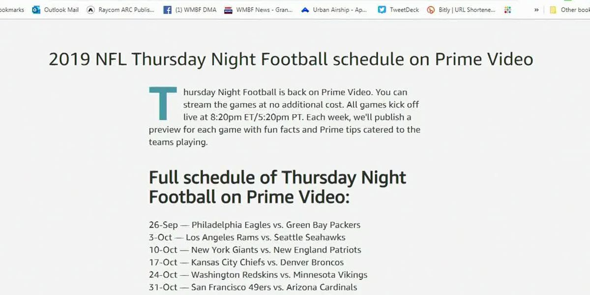 Streaming NFL games without cable