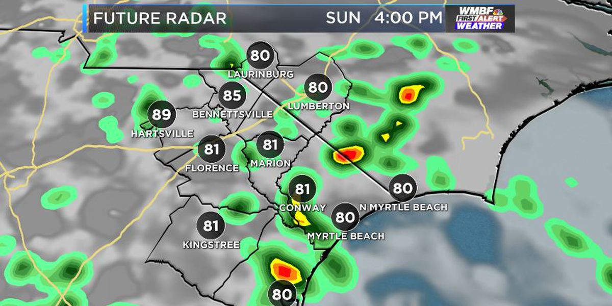 FIRST ALERT: Another chance for storms arrives Sunday