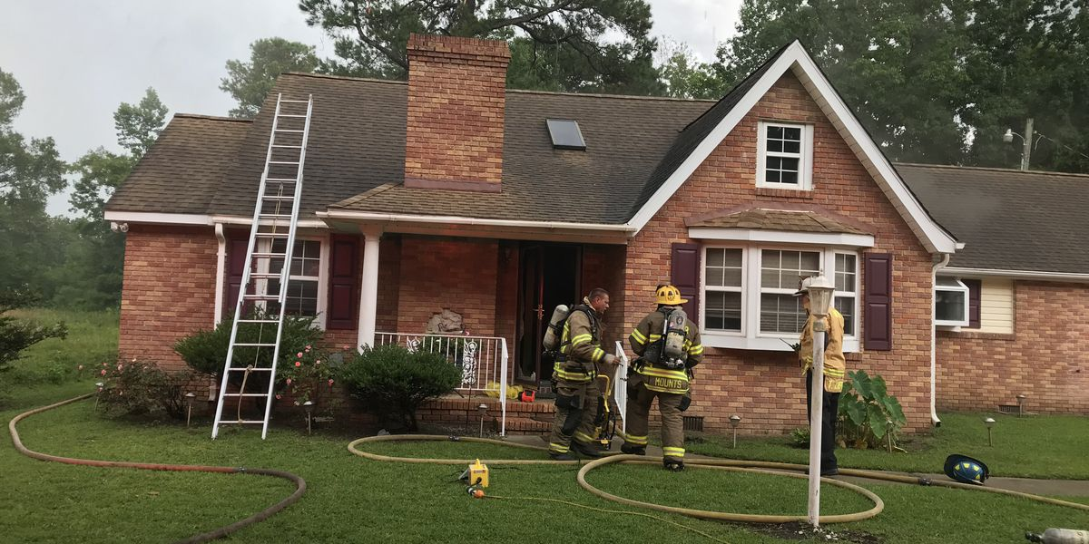 Lightning strike hits, splits tree, causes two-alarm house fire in Conway area