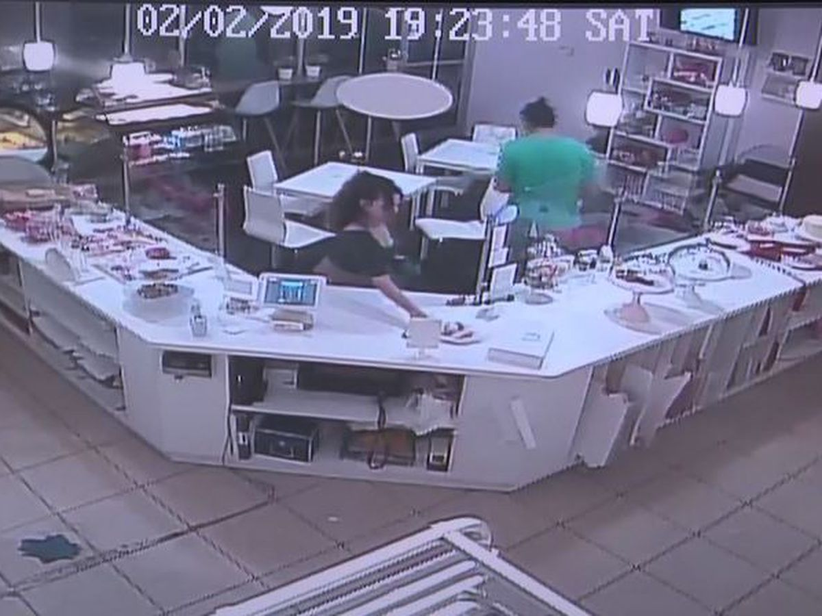 Caught on camera: Woman steals full plate of cupcake samples from FL bakery