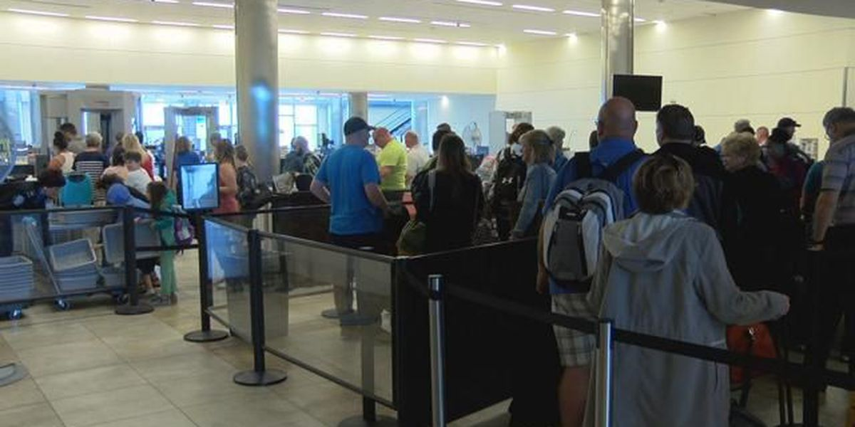 Myrtle Beach Airport officials explain long lines at TSA checkpoint