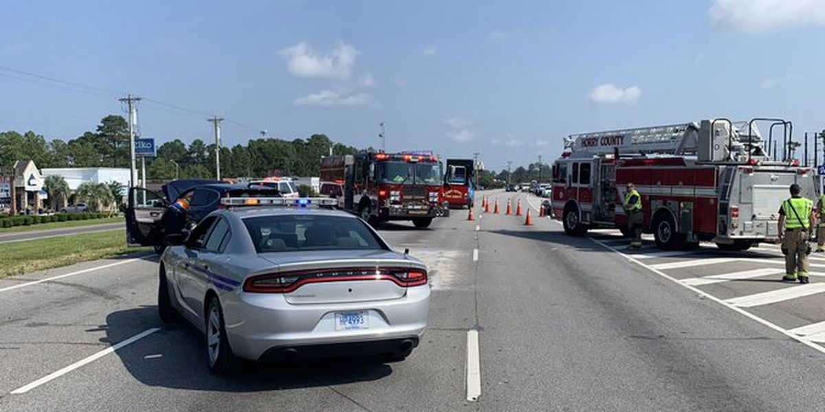 TRAFFIC ALERT: Wreck on 17 bypass sends 4 to the hospital with injuries