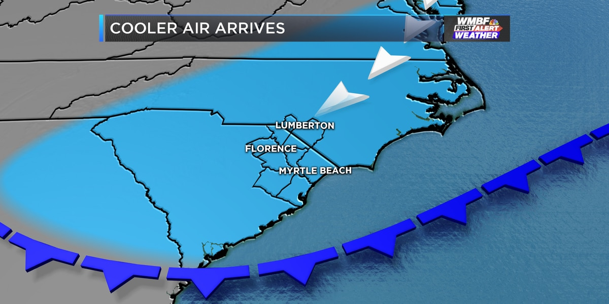First Alert: Changes arrive today, even cooler to end the week