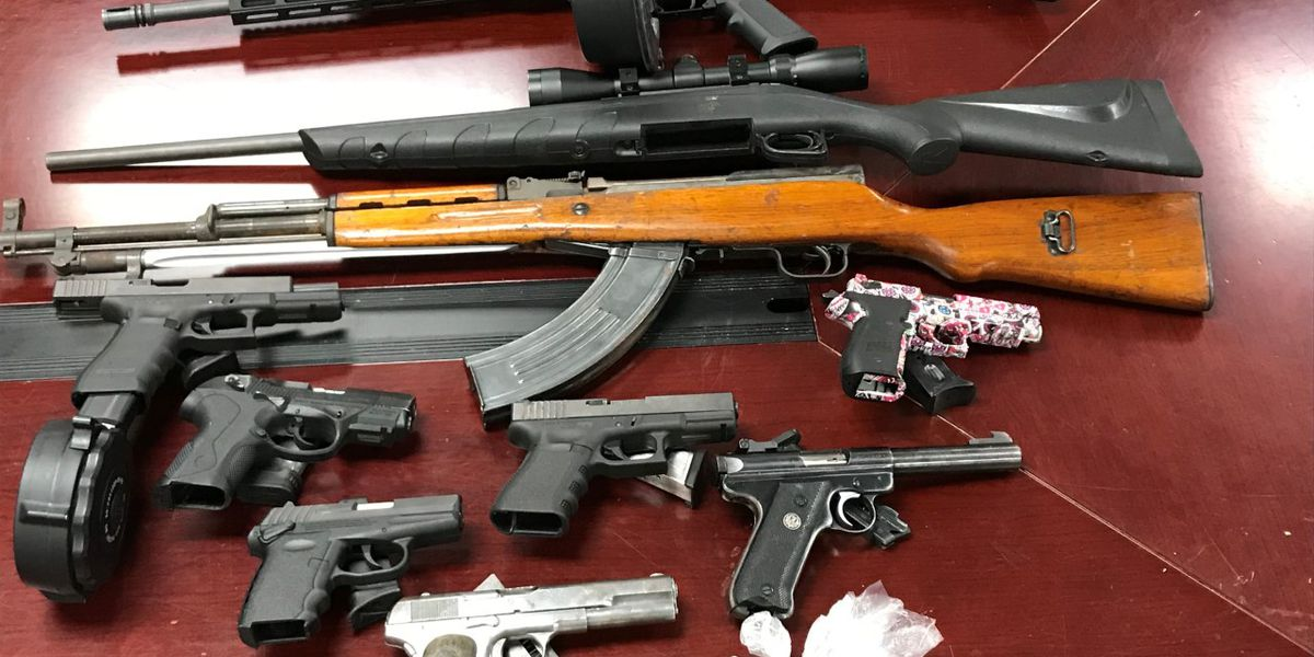 Man charged after drugs, stolen guns seized from Conway area home