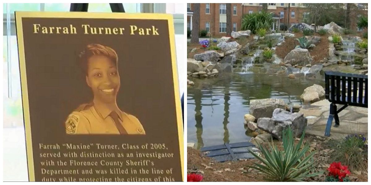 FMU dedicates park to fallen Florence County Sheriff's Office investigator