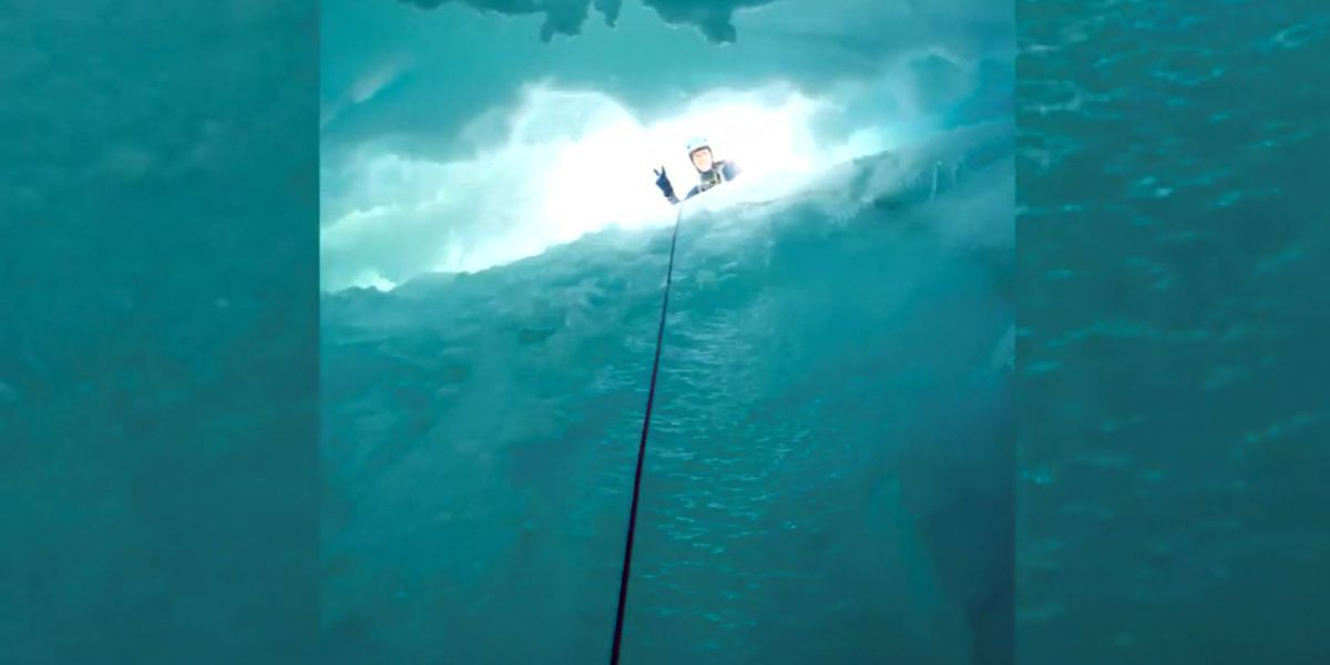 Climber survives fall into crevasse on Mount Rainier, shares pictures