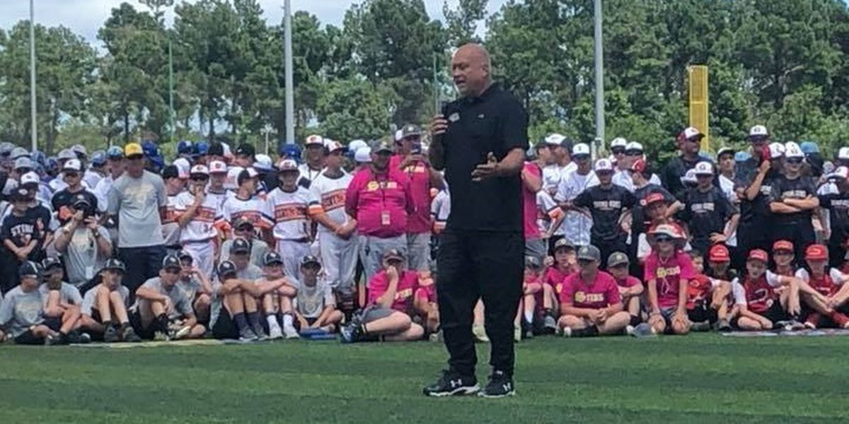 Hall of Famer Cal Ripken Jr. throwing out first pitch at Myrtle Beach baseball tournament Sunday