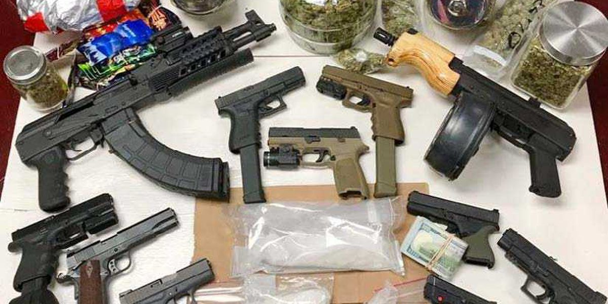 Police seize AK47s, drugs and cash after search warrant; 5 arrested