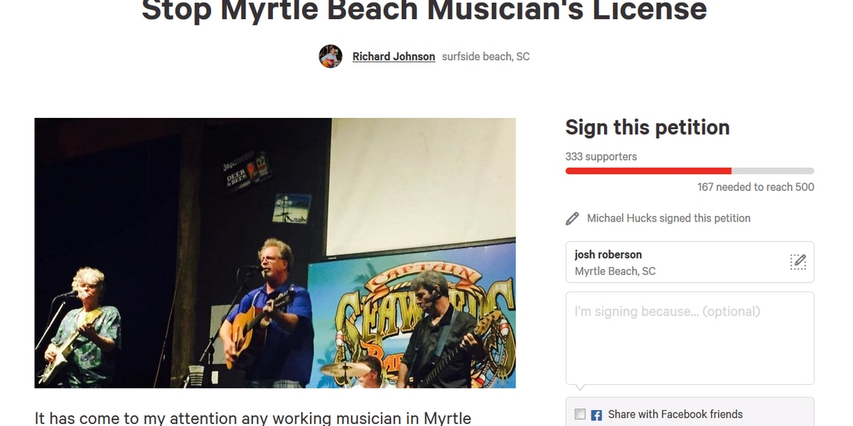 Local musician outraged over requirement of business license
