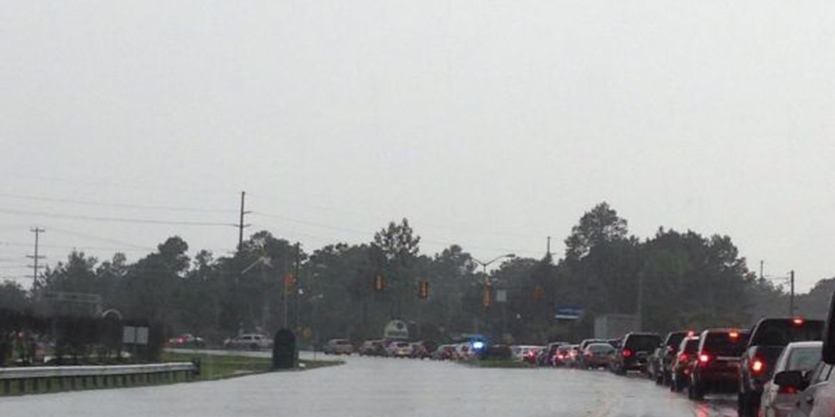Traffic lights, power outages reported in Carolina Forest area