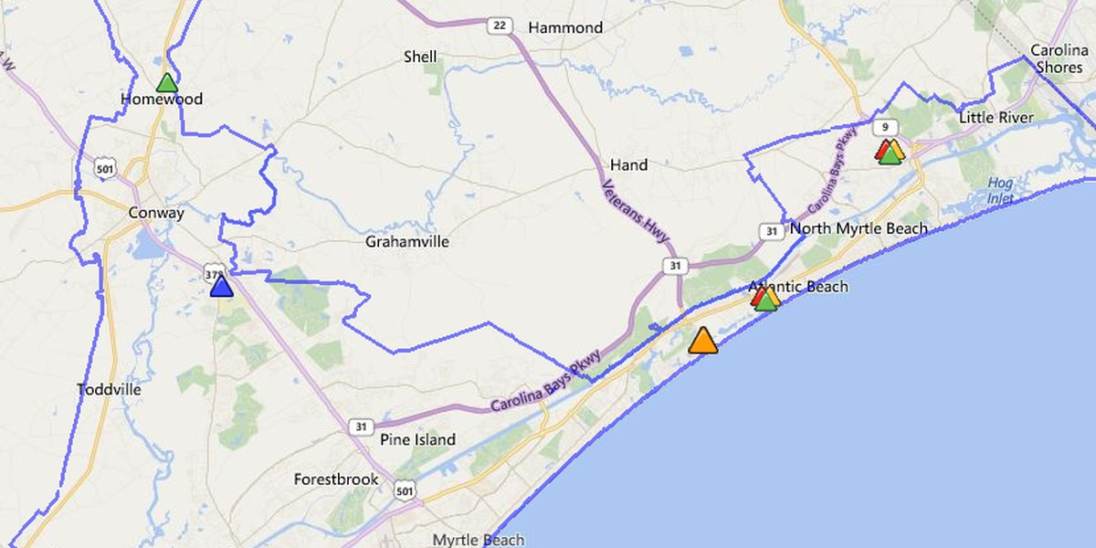 Thousands without power in wake of storm moving through Grand Strand, Pee Dee