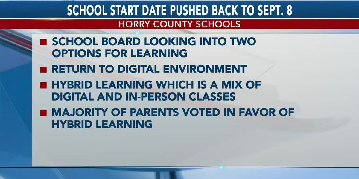 Horry County School Board votes in favor of moving school start date to Sept. 8