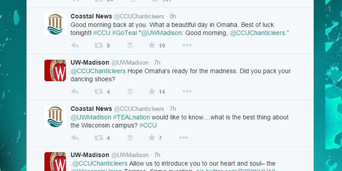 CCU, Wisconsin exchange in polite Twitter war