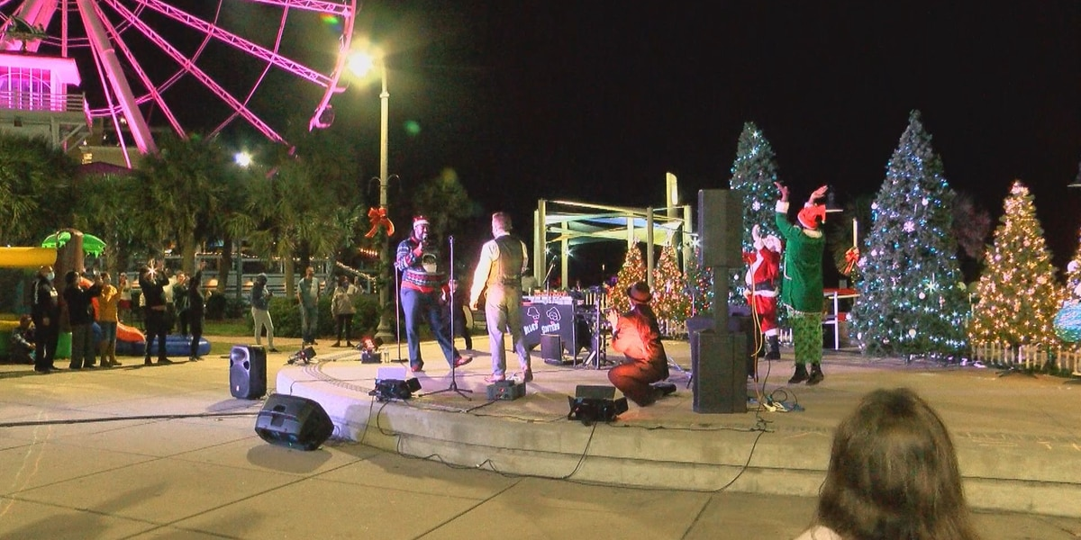 Annual tree lighting celebration takes place at Plyler Park