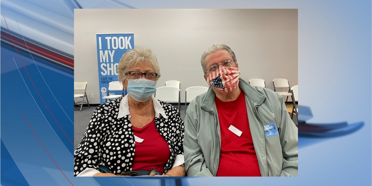 Couple celebrates Valentine's Day while getting COVID-19 vaccine together