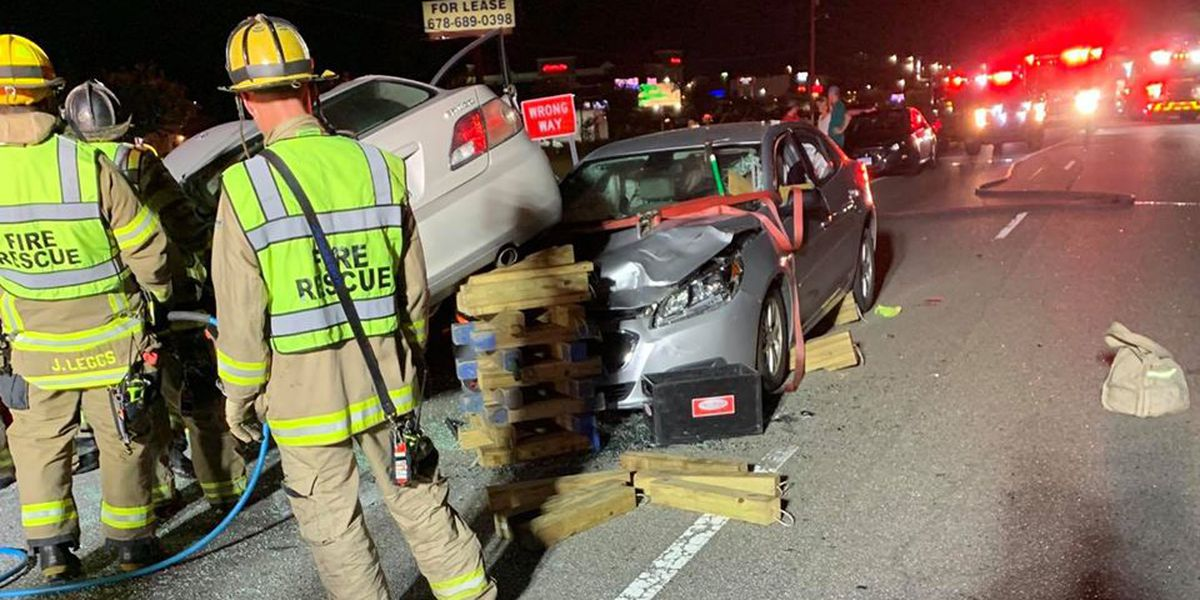 HCFR: Two hurt in three-vehicle crash along Highway 501 near Tanger Outlets