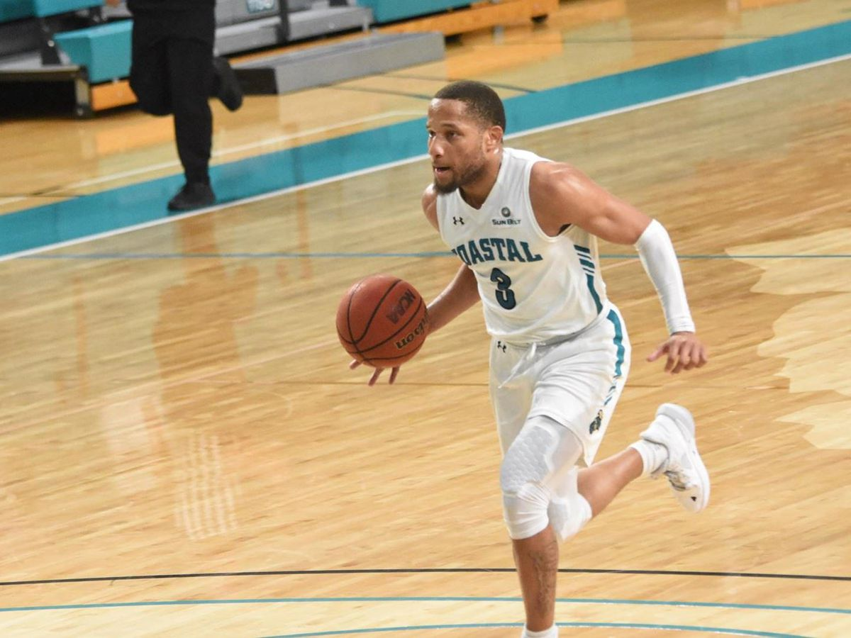Mostafa, Jones lead CCU men to road win at Troy, 76-71