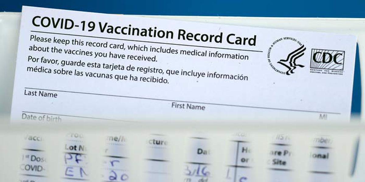FBI warns against making or buying fake COVID-19 vaccination cards