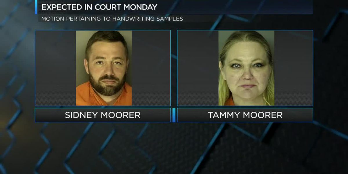 Sidney and Tammy Moorer due in court