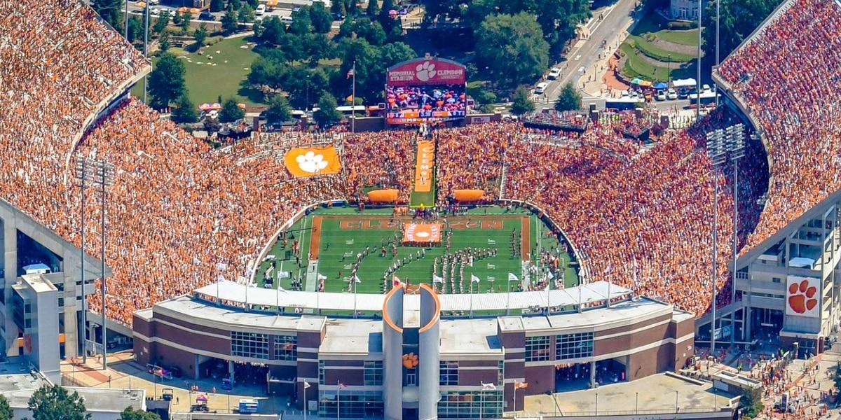 Clemson optimistic about full-capacity football games next season, president says