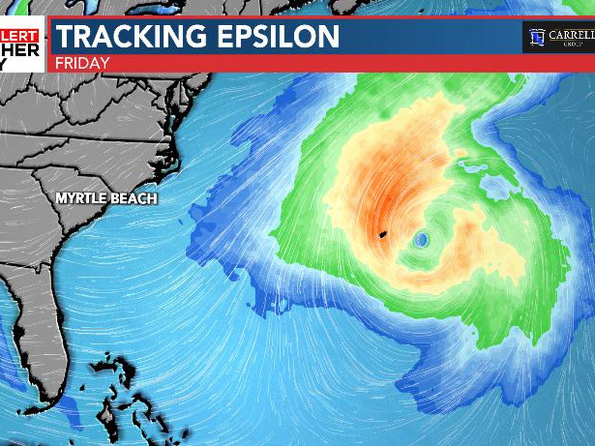 FIRST ALERT: Epsilon forecast to become a hurricane Wednesday