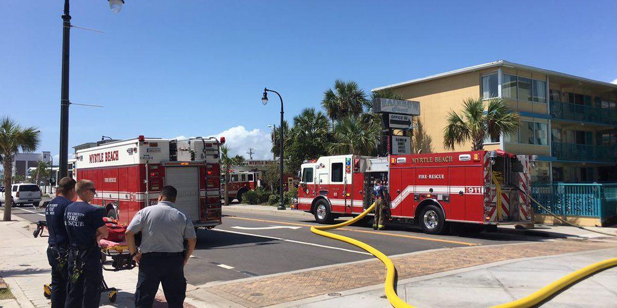 Hotel fire in Myrtle Beach under control