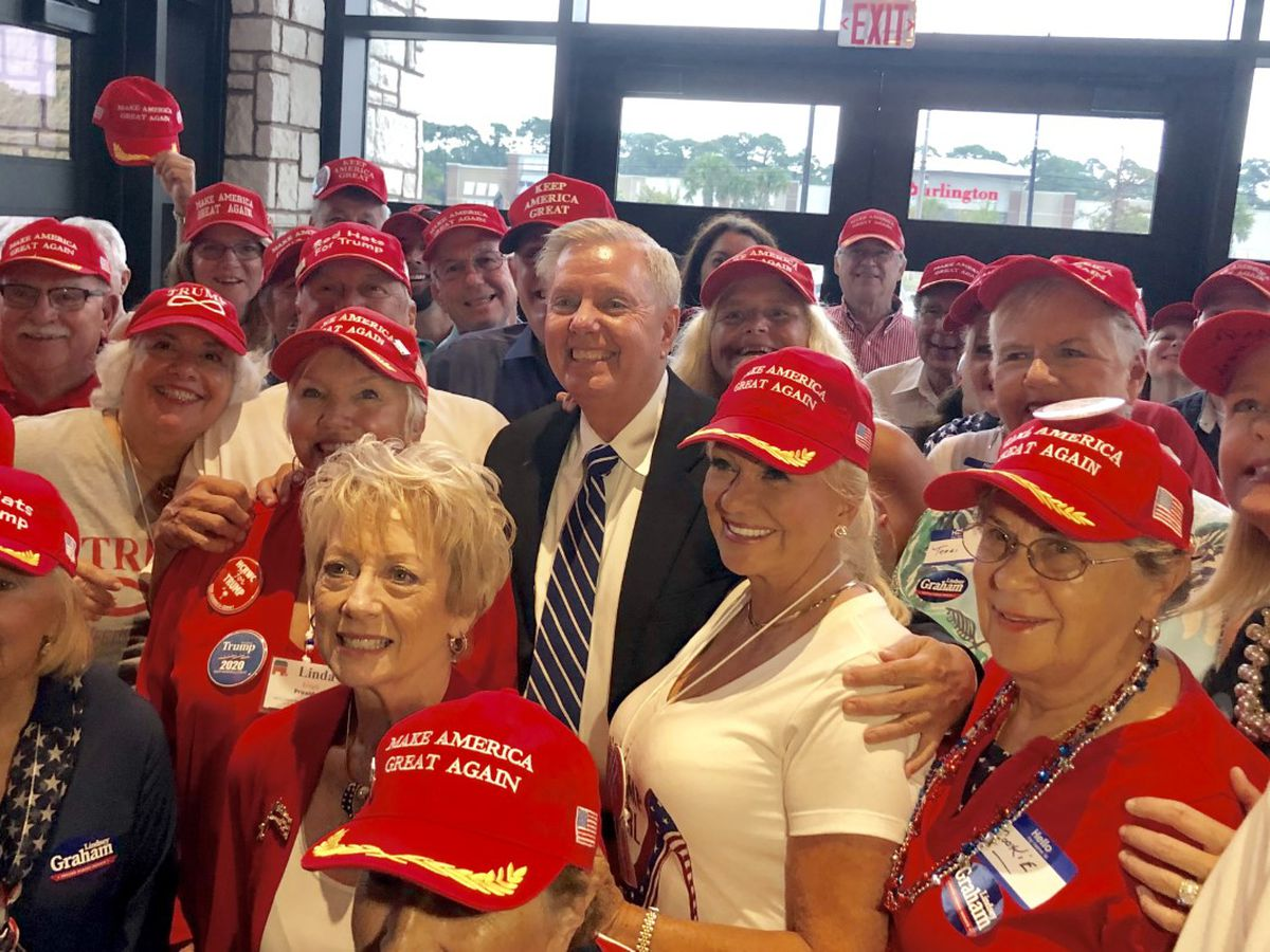 Sen. Graham comes to NMB to 'rally the troops;' talks offshore drilling, gun control