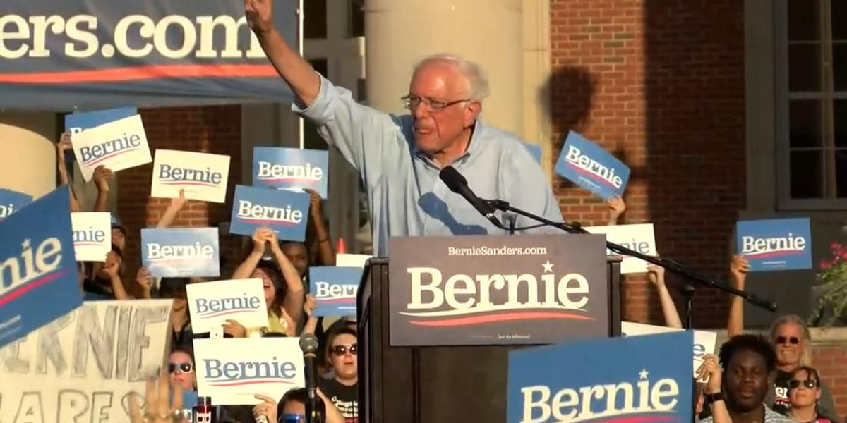 Presidential hopeful Bernie Sanders holds campaign rally in Charlotte