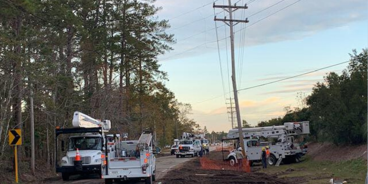 Horry Electric crews restore power after clipped wire leads to outage
