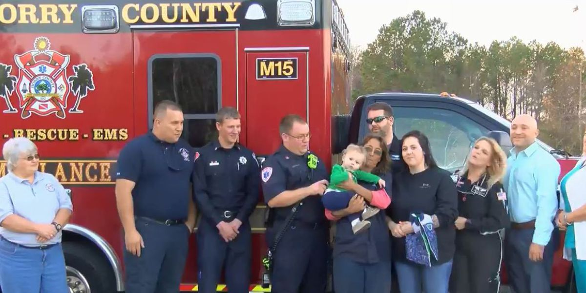 Crew recognized for saving life of boy who fell in swimming pool