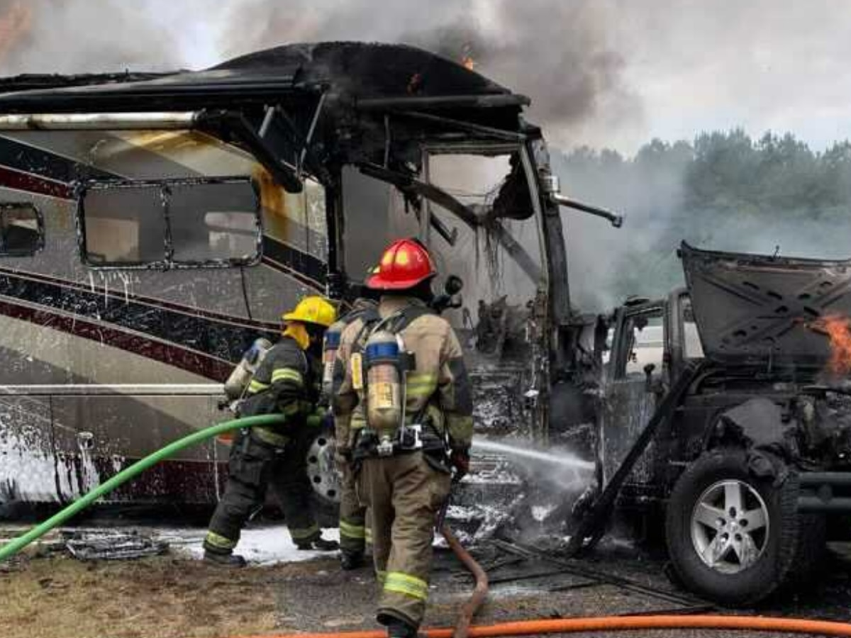 No one injured in fiery Marlboro County wreck