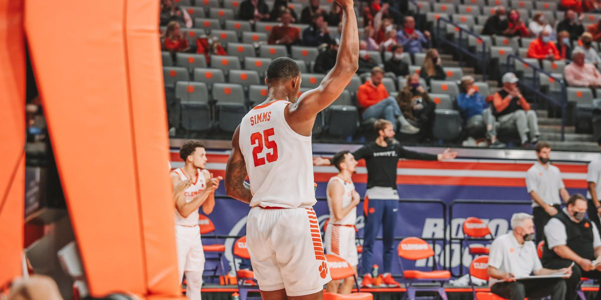 Simms, Honor lift No. 19 Clemson to 74-70 win over NC State