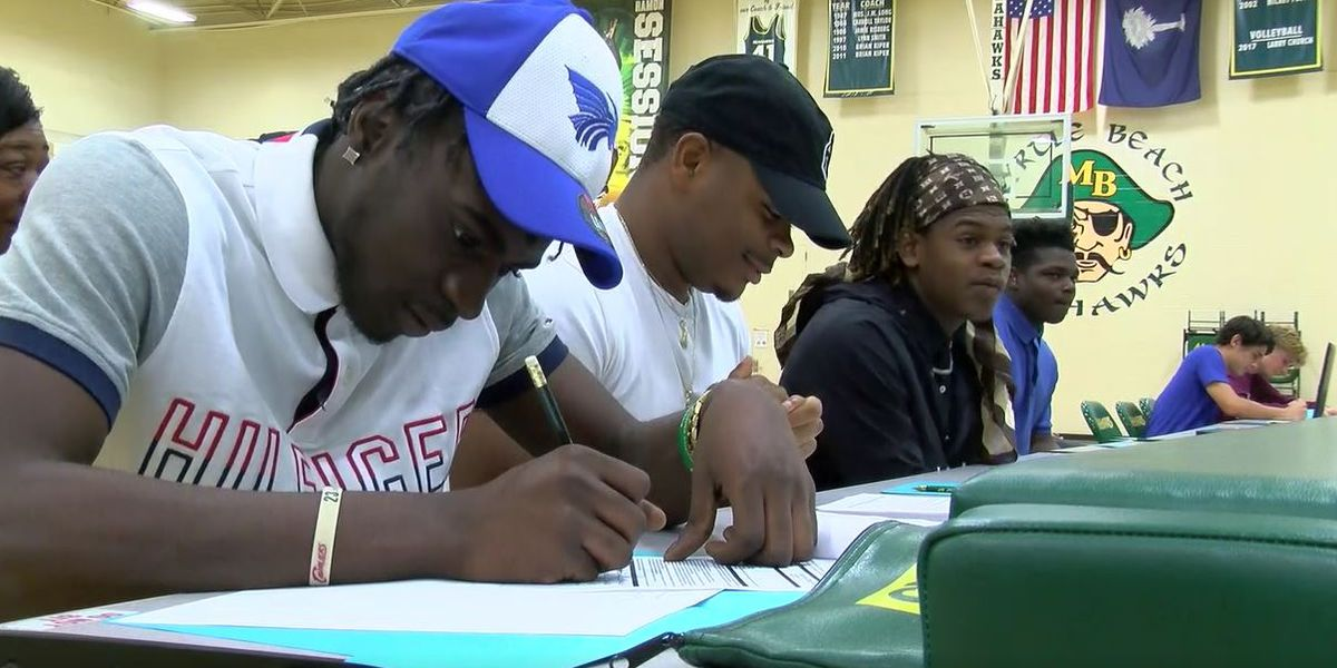 Myrtle Beach senior athletes sign their college commitment letters