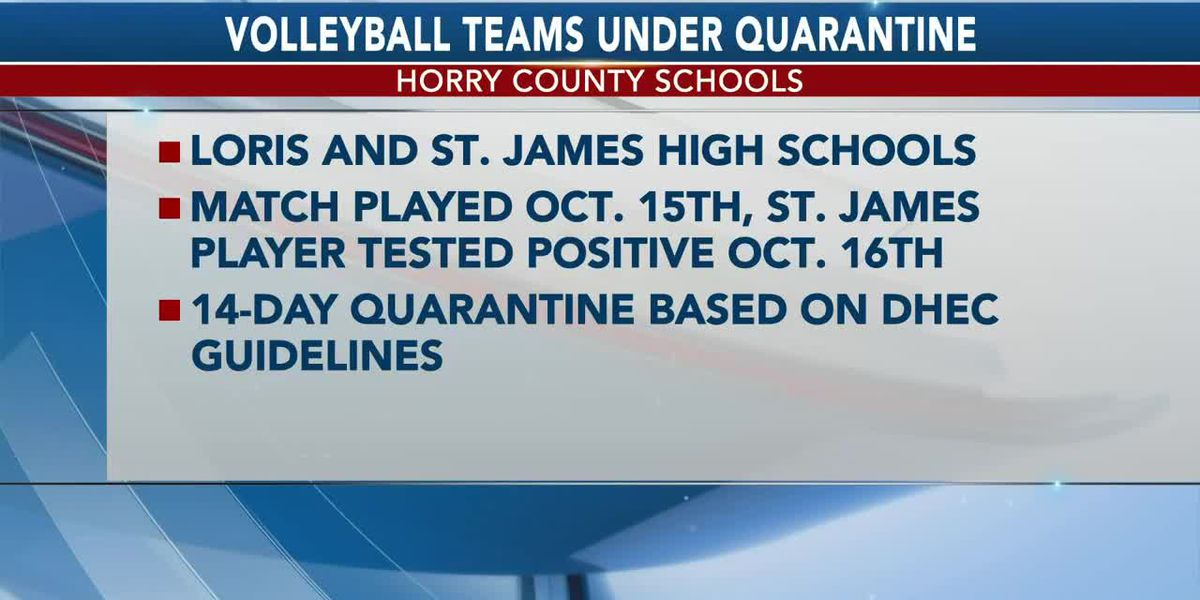 Loris, St. James High volleyball teams quarantined after positive COVID-19 test, according to distri