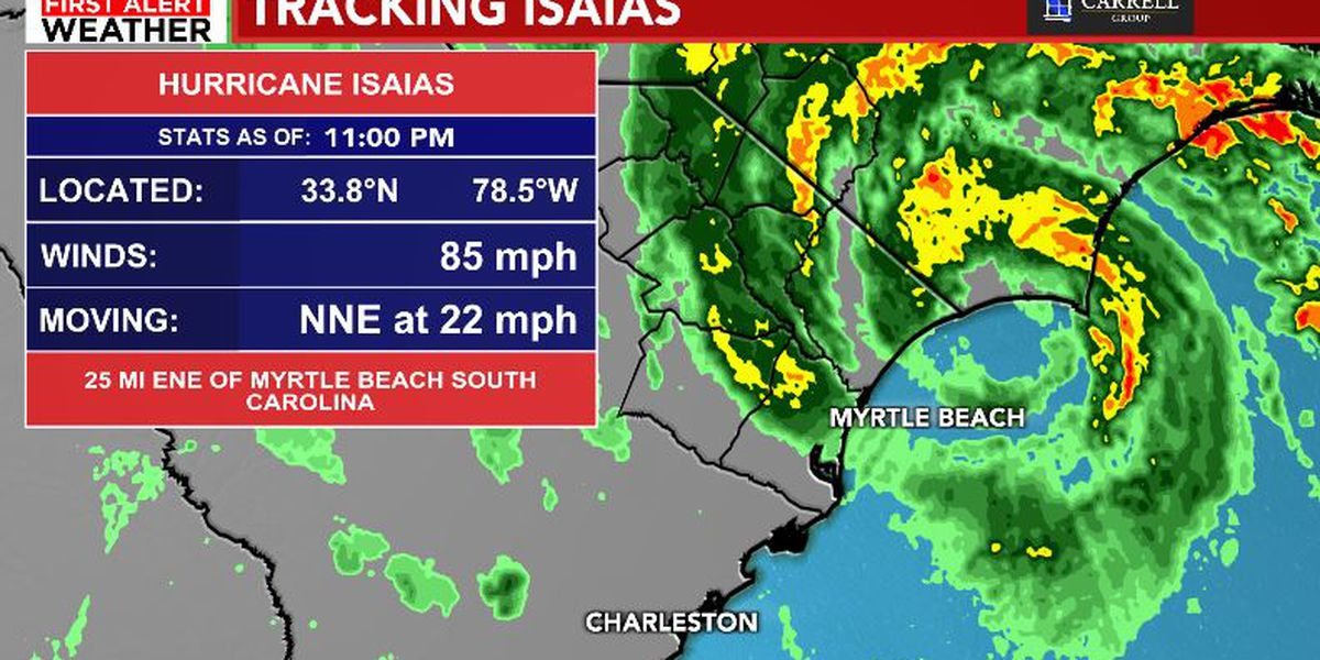 FIRST ALERT: Isaias makes landfall in N.C., strong winds in the Grand Strand
