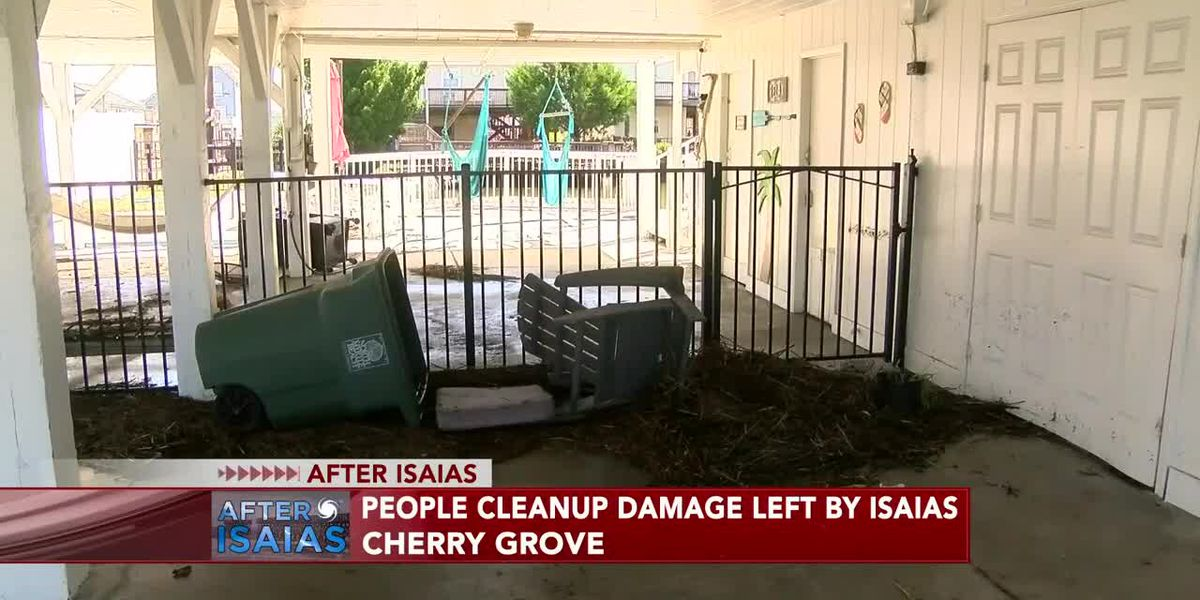Canals, docks in Cherry Grove battered by Isaias