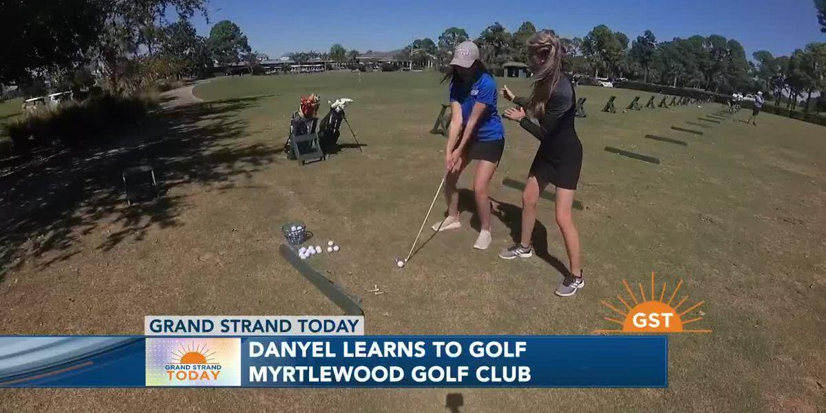 LPGA Instructor gives Danyel a golf lesson