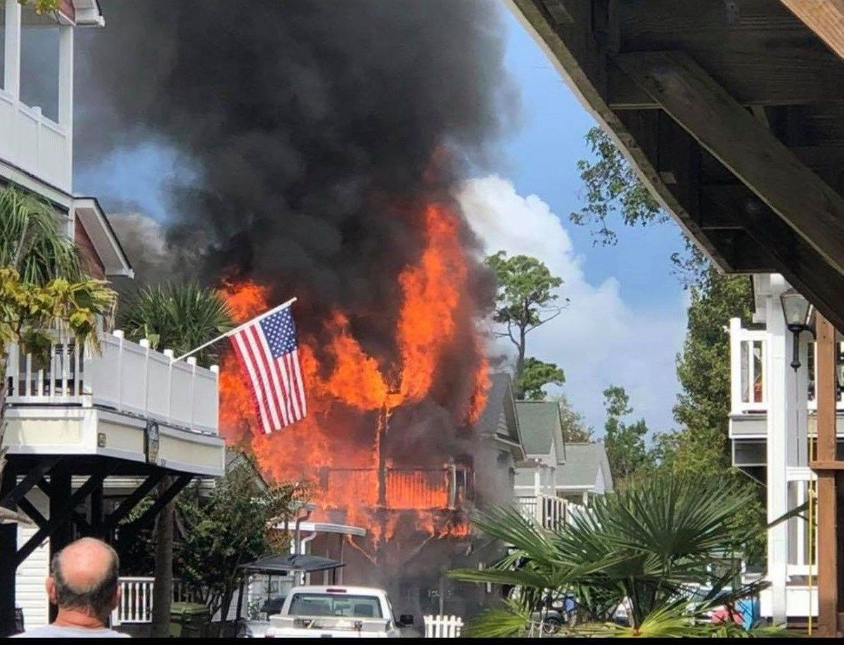Multiple Homes Damaged During Fire At Ocean Lakes Campground In Horry County